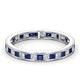Eternity Ring Lauren Diamonds H/SI and Sapphire 1.20CT -18K White Gold - image 3