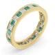 Eternity Ring Lauren Diamonds G/VS and Emerald 2.20CT in 18K Gold - image 2