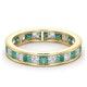 Eternity Ring Lauren Diamonds G/VS and Emerald 2.20CT in 18K Gold - image 3