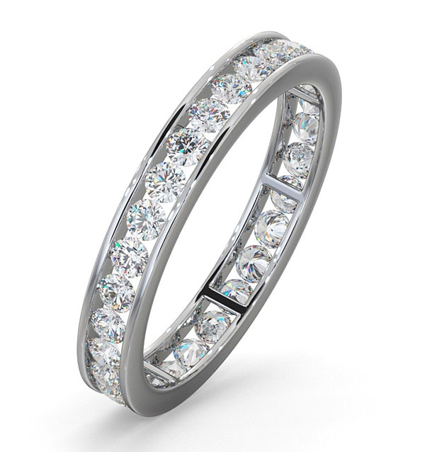 Diamond Eternity Ring Rae Channel Set 1.00ct H/Si in 18K White Gold