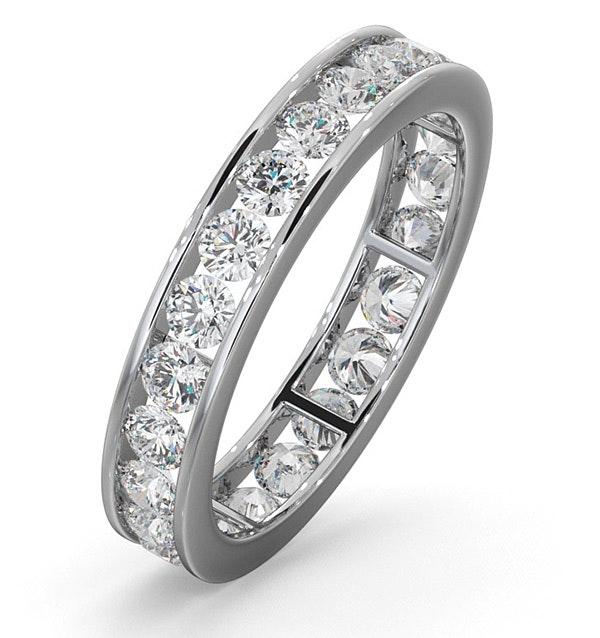 Diamond Eternity Ring Rae Channel Set 1.50ct G/Vs in Platinum