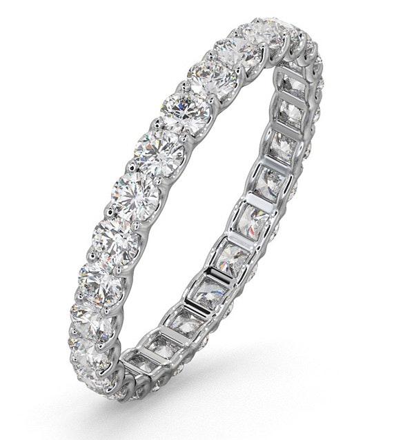 Eternity Ring Chloe Platinum Diamond 1.00ct H/Si