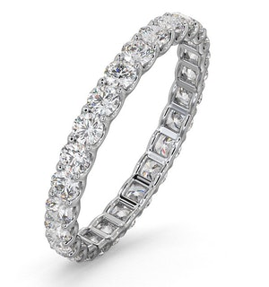 ETERNITY RING CHLOE 18K WHITE GOLD DIAMOND 1.00CT H/SI