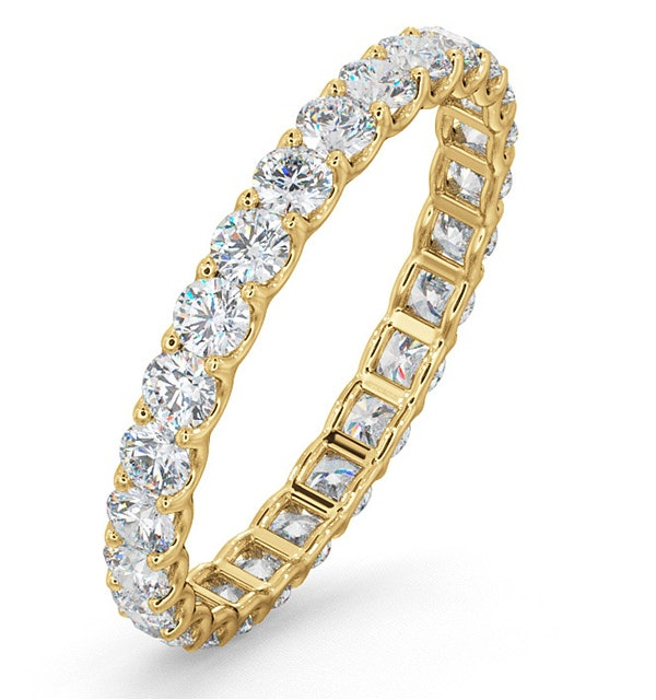 Eternity Ring Chloe 18K Gold Diamond 1.00ct H/Si - image 1
