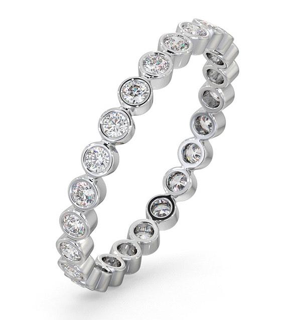 Eternity Ring Emily 18K White Gold Diamond 0.50ct H/Si