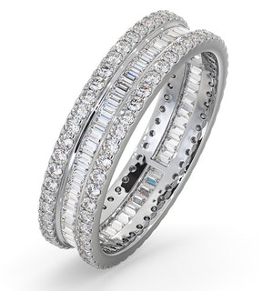 ETERNITY RING KATIE 18K WHITE GOLD DIAMOND 1.00CT H/SI