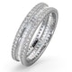 Katie Diamond Eternity Ring in 18K White Gold - Size S.5 - image 1