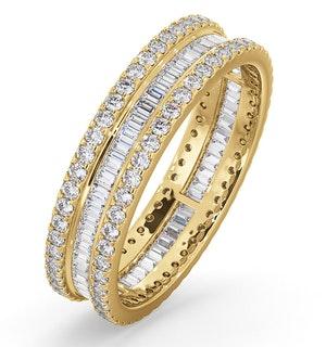 ETERNITY RING KATIE 18K GOLD DIAMOND 1.00CT H/SI