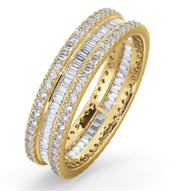 Katie Diamond Eternity Ring  in 18K Gold - Size K - image 1