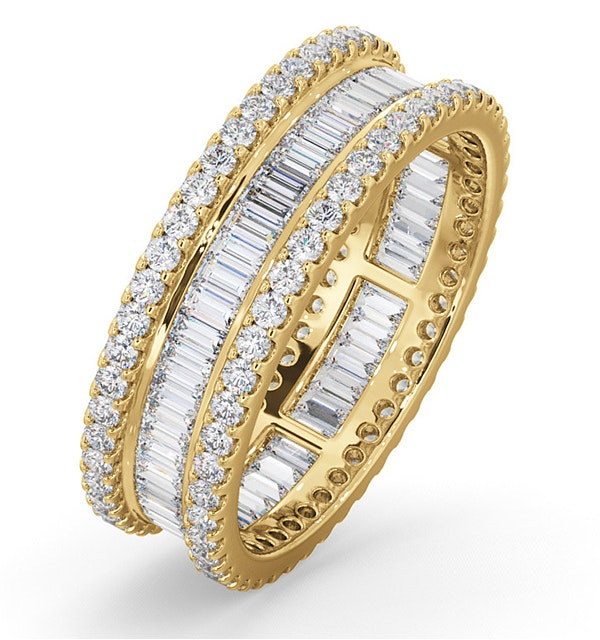 Katie Diamond Eternity Ring in 18K Gold Size P.5 - image 1