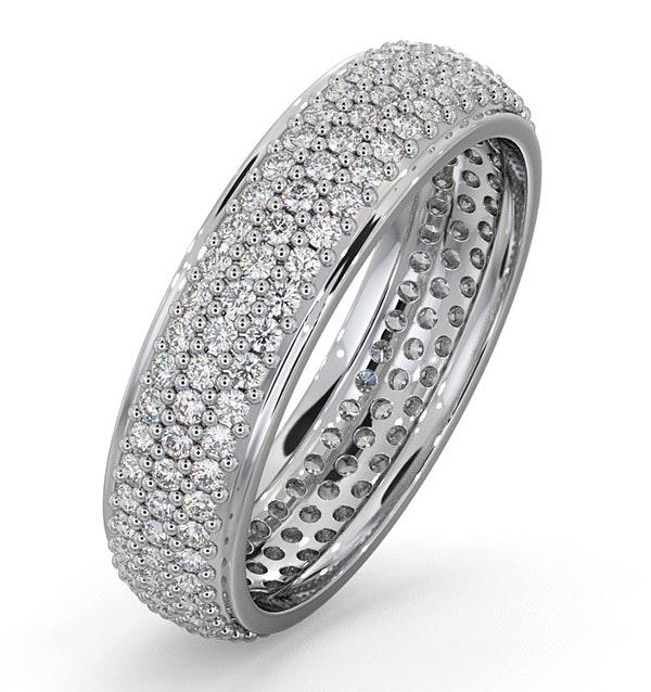 Eternity Ring Sara Platinum Diamond 1.00ct H/Si