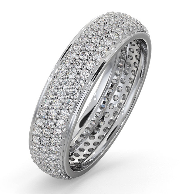 Eternity Ring Sara 18K White Gold Diamond 1.00ct H/Si - image 1