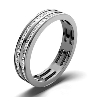 ETERNITY RING HOLLY 18K WHITE GOLD DIAMOND 1.00CT H/SI