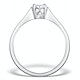Galileo 0.50ct Look Diamond 0.17ct And 18K White Gold Ring - image 2