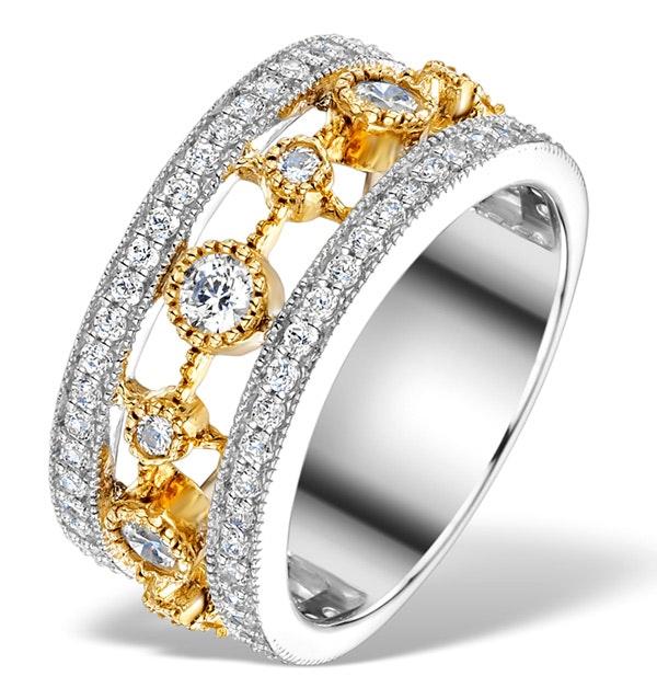 18K GOLD ADORA 1.22ct PAVE SET Diamond Ring