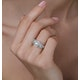 Halo Pave Ring - Celeste - 0.92ct of H/Si Diamonds in 18K White Gold - image 3