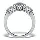 Halo Pave Ring - Celeste - 0.92ct of H/Si Diamonds in 18K White Gold - image 2