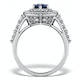 Sapphire Ring with a Diamond Halo 0.78ct in 18K White Gold N4524 - image 2
