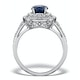 Sapphire Ring with a Diamond Halo 0.65ct in 18K White Gold N4525 - image 2