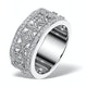 Vintage Wide Diamond Ring - Florence - 0.75ct 18K White Gold - N4528 - image 1
