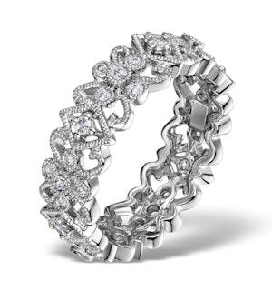 DIAMOND ETERNITY RING - TRELLIS - 0.42CT SET IN 18K WHITE GOLD - N4520
