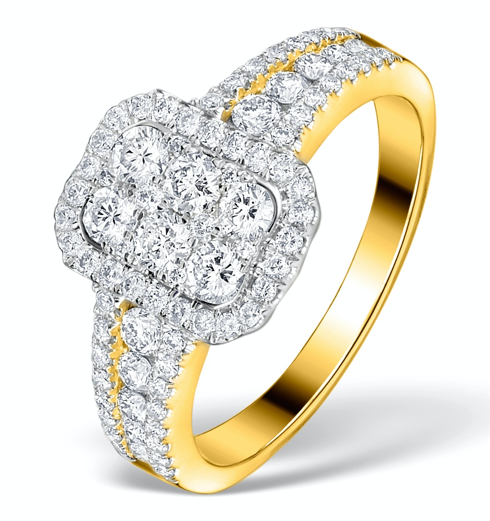 Diamond Galileo 1CT H/SI and 18K Gold Ring - N4538