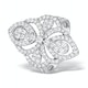 Vintage Diamond Ring 1.75CT H/Si in 18K White Gold - N4547 - image 1