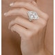 Vintage Diamond Ring 1.75CT H/Si in 18K White Gold - N4547 - image 3