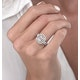 0.75ct Diamond Asteria Collection Baguette Ring in 18K White Gold - image 3