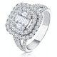 1.25ct Asteria Collection Double Halo Diamond Ring in 18K White Gold - image 1