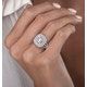 1.25ct Asteria Collection Double Halo Diamond Ring in 18K White Gold - image 3