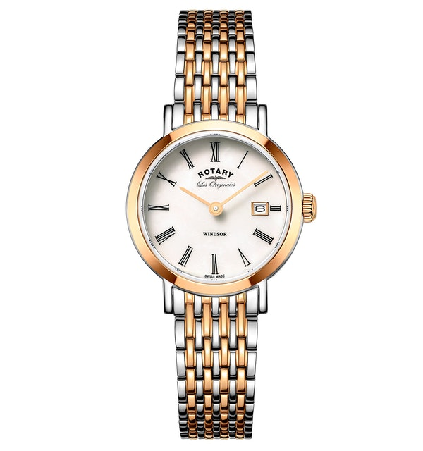Rotary Les Originales Windsor Rose Gold Swiss Ladies Quartz Watch - image 1