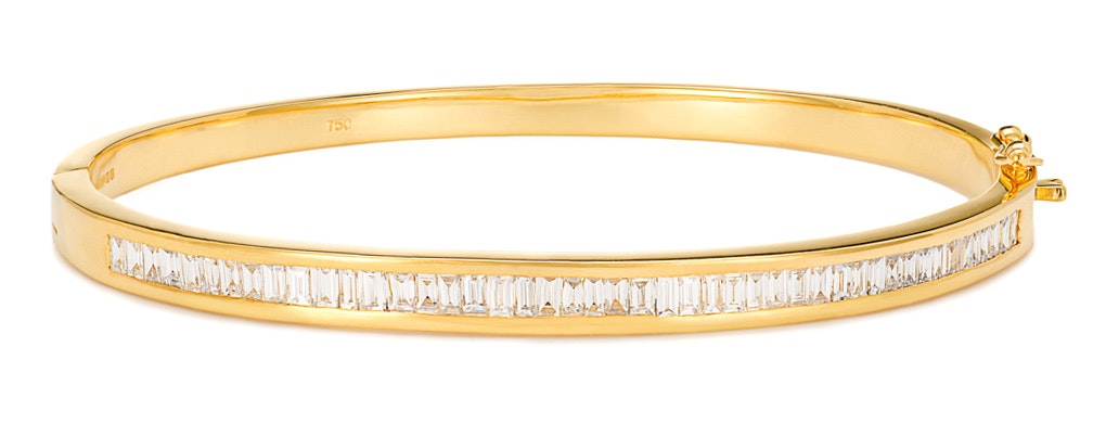 18K Gold Diamond Bangle 1.50ct H/Si