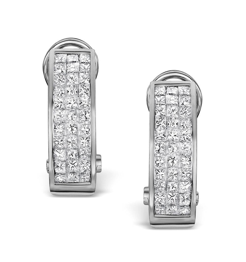 Diamond 1.30ct 18K White Gold Earrings - RTC-P3217