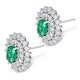 Emerald 5 x 7mm And Diamond 9K White Gold Earrings - image 2