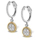 18K White Gold Alessia 2.50ct Diamond and Yellow Diamond Halo Earrings - image 2