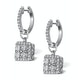 Halo Diamond Drop Earrings - Messina - 1.29ct - in 18K White Gold - image 2