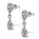 Vintage Diamond Drop Earrings - Vittoria - 0.80ct - in 18K White Gold - image 2