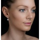 Halo Diamond Drop Earrings - Florence - 0.46ct - in 18K White Gold - image 3