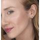 Diamond Stud Earrings 0.10ct H/Si in 18K White Gold - P3479 - image 2