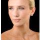 Diamond Earrings Moyen 0.85ct H/Si in 18K White Gold - P3471Y - image 3