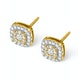 Diamond Halo Earrings 0.60ct H/Si in 18K Gold - P3484 - image 2