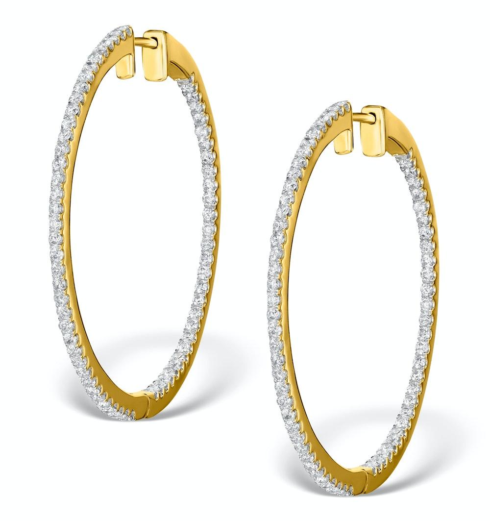 Diamond Hoop Earrings 1.50ct H/Si 18K Gold - P3488