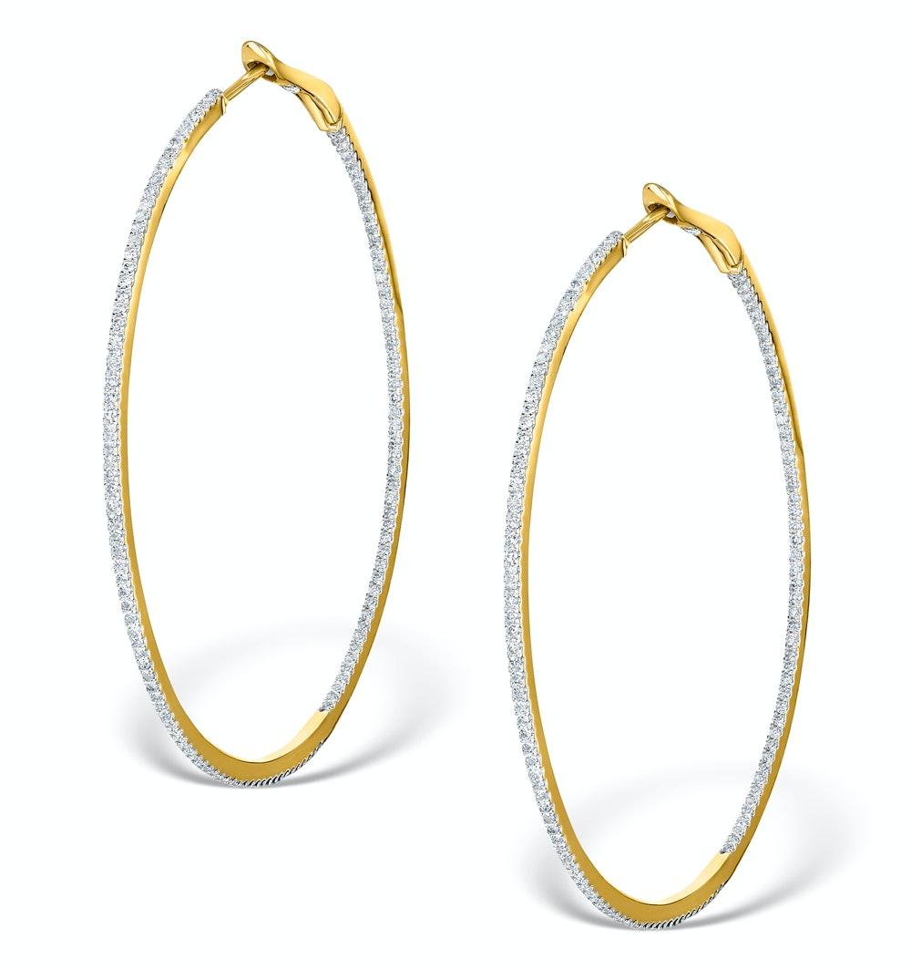 Diamond Hoop Earrings 1ct H/Si 18K Gold - P3480