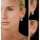 Athena Diamond Drop Earrings Multi Wear 1.24ct 18K White Gold - P3494 - image 4