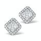 Athena Diamond Drop Earrings Multi Wear 1ct in 18K White Gold - P3496 - image 3