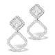 Athena Diamond Drop Earrings Multi Wear 1ct in 18K White Gold - P3496 - image 1