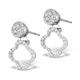 Athena Diamond Drop Earrings Multi Wear 0.71ct 18K White Gold - P3497 - image 3