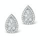 Athena Diamond Drop Earrings Multi Wear 0.90ct 18K White Gold - P3498 - image 2