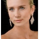 Diamond Halo Pyrus Chandelier Earrings 9.40ct in 18K Rose Gold P3490 - image 3
